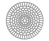 ROSETTE | Diameter 0.9m FD3WCIRS-UNIT / Diameter 1.6m FD3WCIRM-UNIT